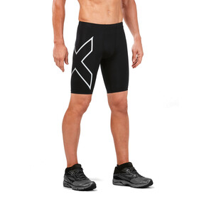 2XU Run Compression Shorts Men with Back Pocket black/silver